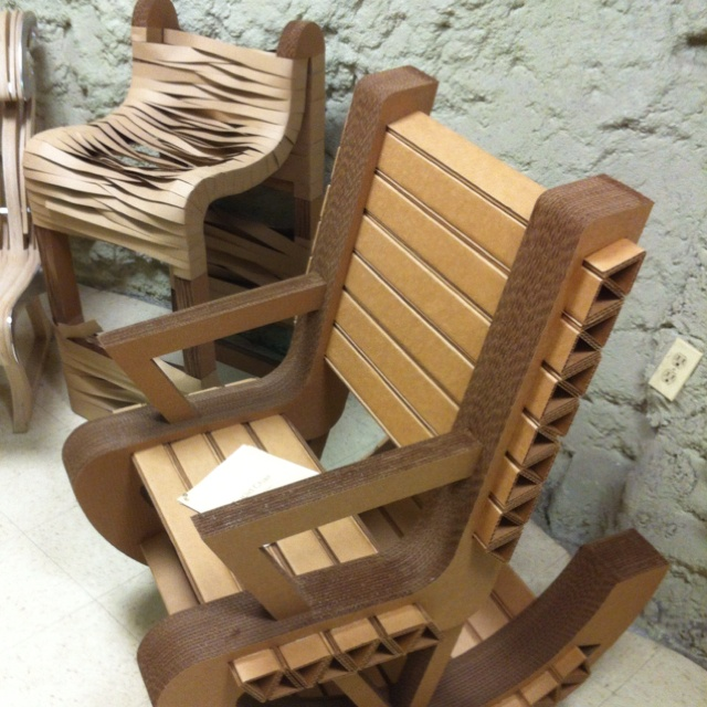 Cardboard Chair I Had An Opportunity To Design With My Interior Degree At Park University