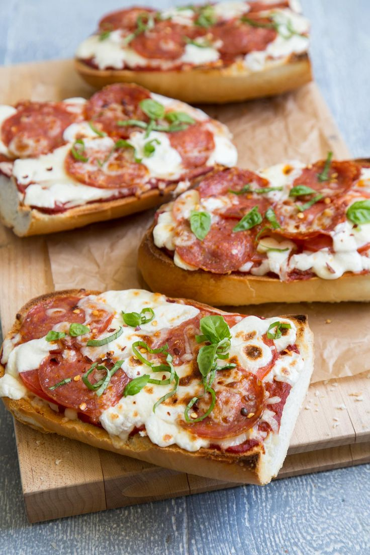 French Bread Pizza (it takes less 5 minutes to bake using the broiler!)