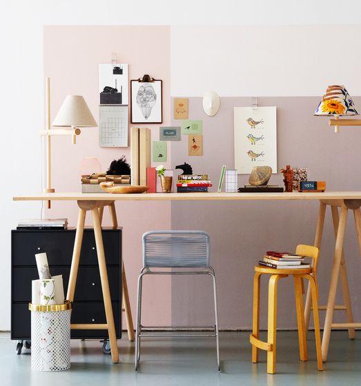 work-space in pastel hues