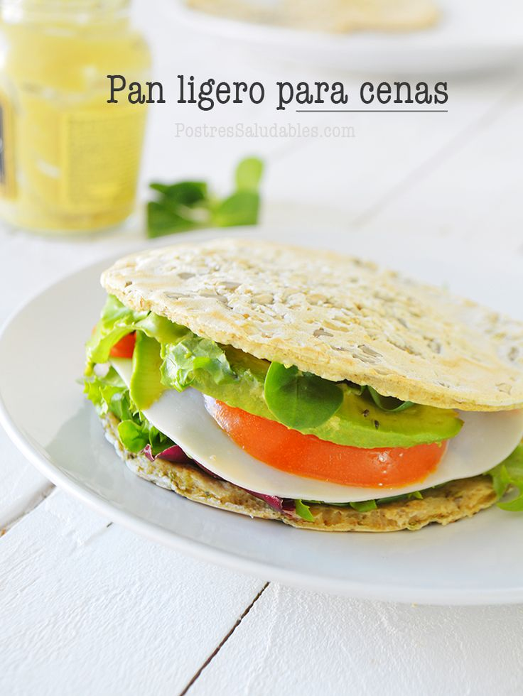 Postres Saludables | Pan ligero en 5 min para cenar saludable | http://www.postressaludables.com