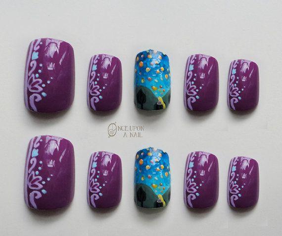 Rapunzel Nails: 17 Best Ideas About Disney Acrylic Nails On Pinterest