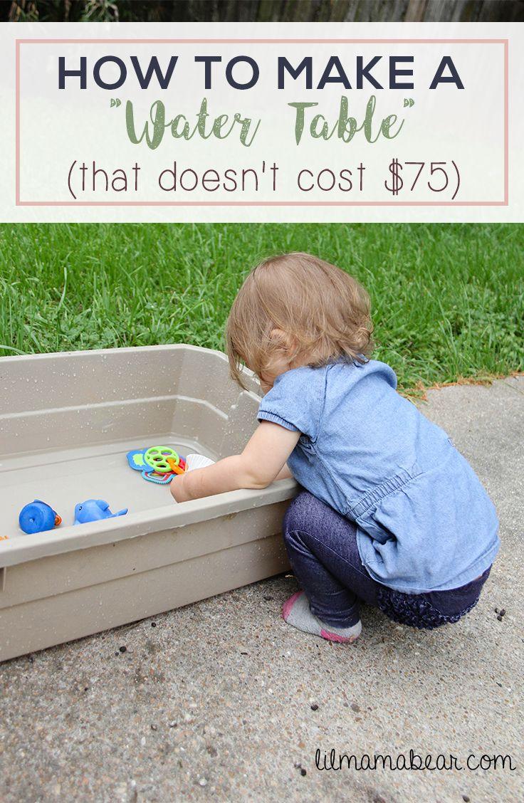water table easy fun cheap inexpensive diy