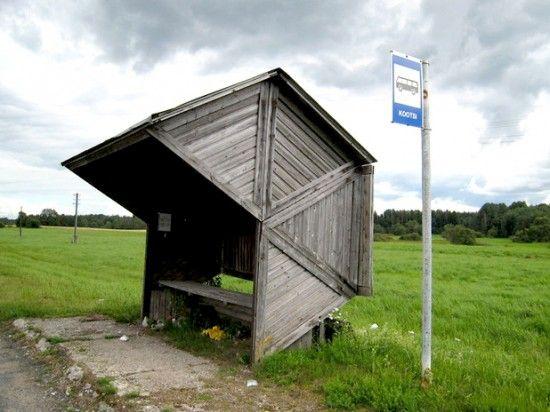 estonian bus stop as gazebo