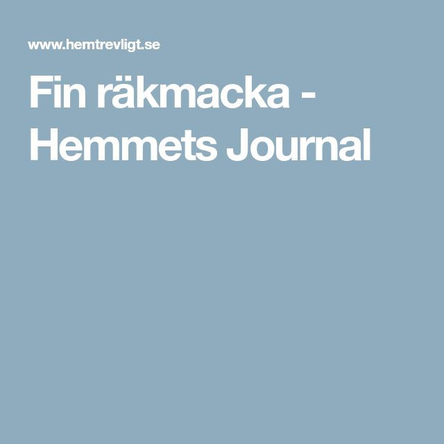 Fin räkmacka - Hemmets Journal