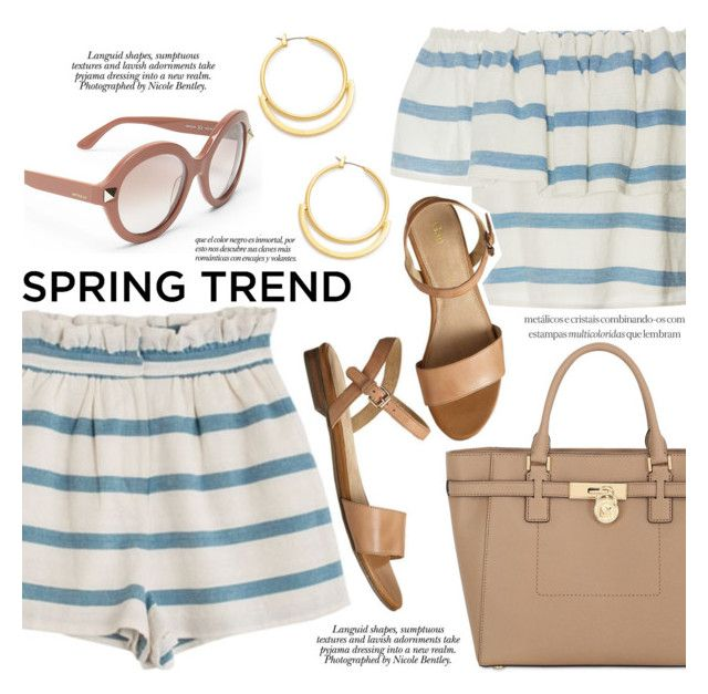 """""""Spring Trend : Ruffle"""" by igedesubawa ❤ liked on Polyvore featuring Mara Hoffman, Valentino, MICHAEL Michael Kors, Gap, Madewell, Nicole, contest, ruffles, contestentry and polyvorecontest"""