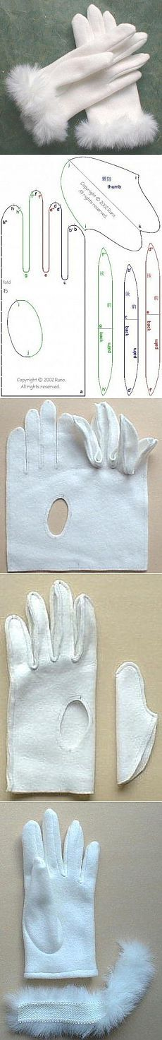 Patron para guantes