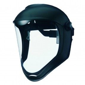 Bionic® Face Shield With Suspension http://ca.en.safety.ronco.ca/products/26/35/133/bionic%C2%AE-face-shield A revolutionary face shield designed for rugged jobs. Extremely lightweight and highly adjustable for all-day comfort, it's perfect for workers expose to impact, chemical splash, airborne debris and welding infrared radiation.