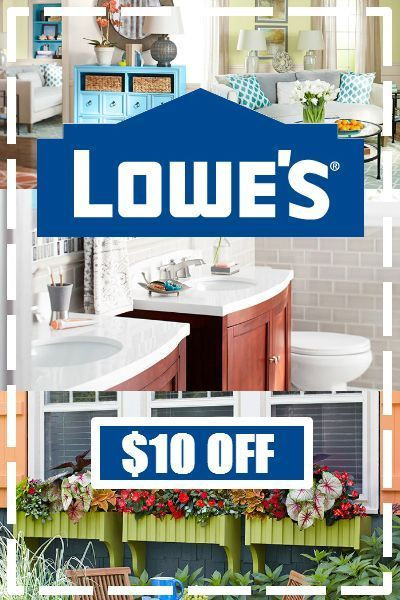 $10 off Lowes coupon! Get $10 off orders $50 or more. Use coupon code here: http://www.dealsplus.com/lowes-coupons?code=2869691 #lowes #coupons #DIY