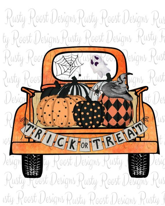 Trick Or Treat Pnghalloween Sublimation Designs Etsy Halloween Clipart Halloween Art Fall Halloween