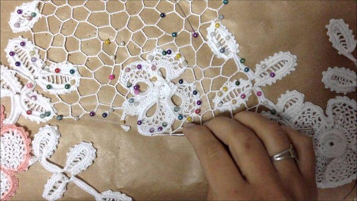 En este video les muestro cómo realizo una red irregular para unir los motivos de crochet irlandés. In this video I show how I do the irish crochet irregular...