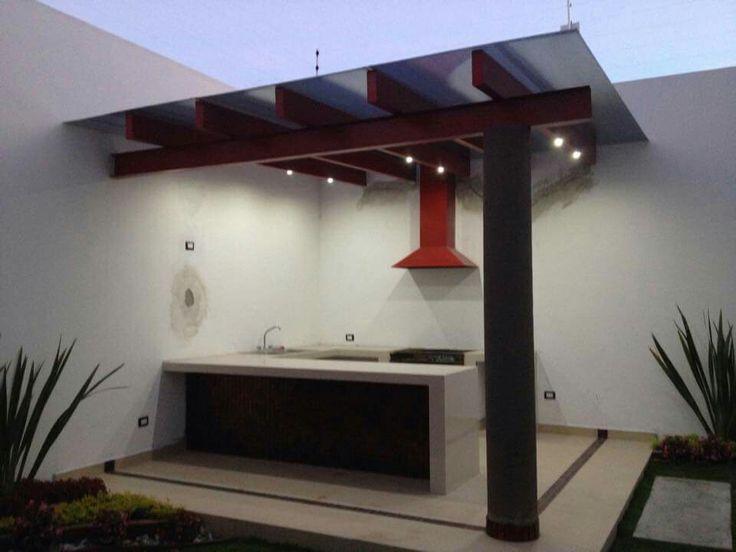 Jardines dise o moderno con asadores casa dise o for Barbacoa diseno moderno
