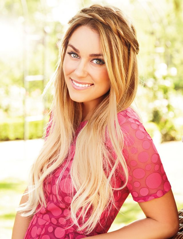 Lauren Conrad's hair... twisted crown