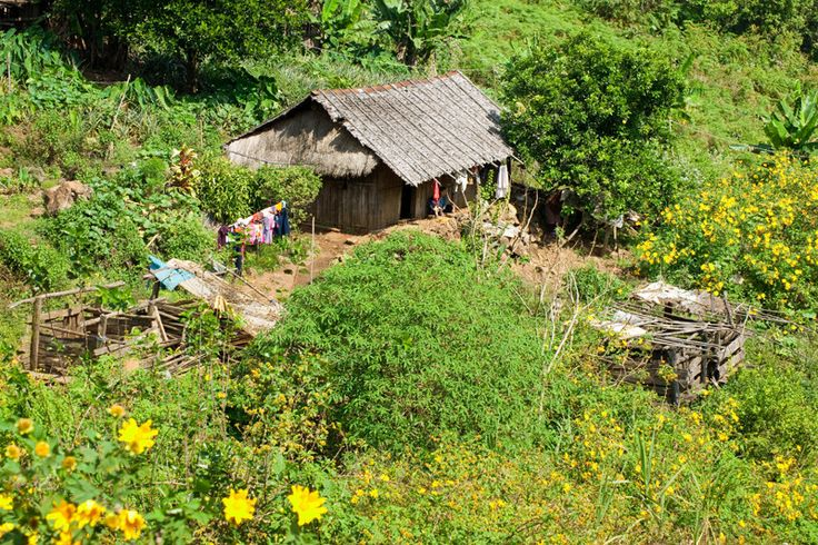 Bergdorf: Hmong-Village