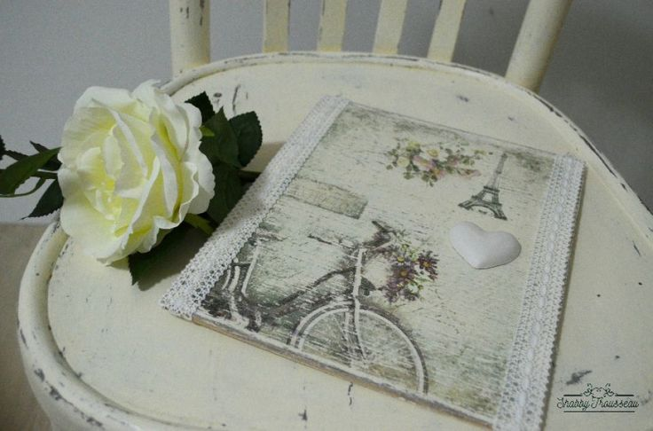 Shabby Chic wood plate - PARIS model