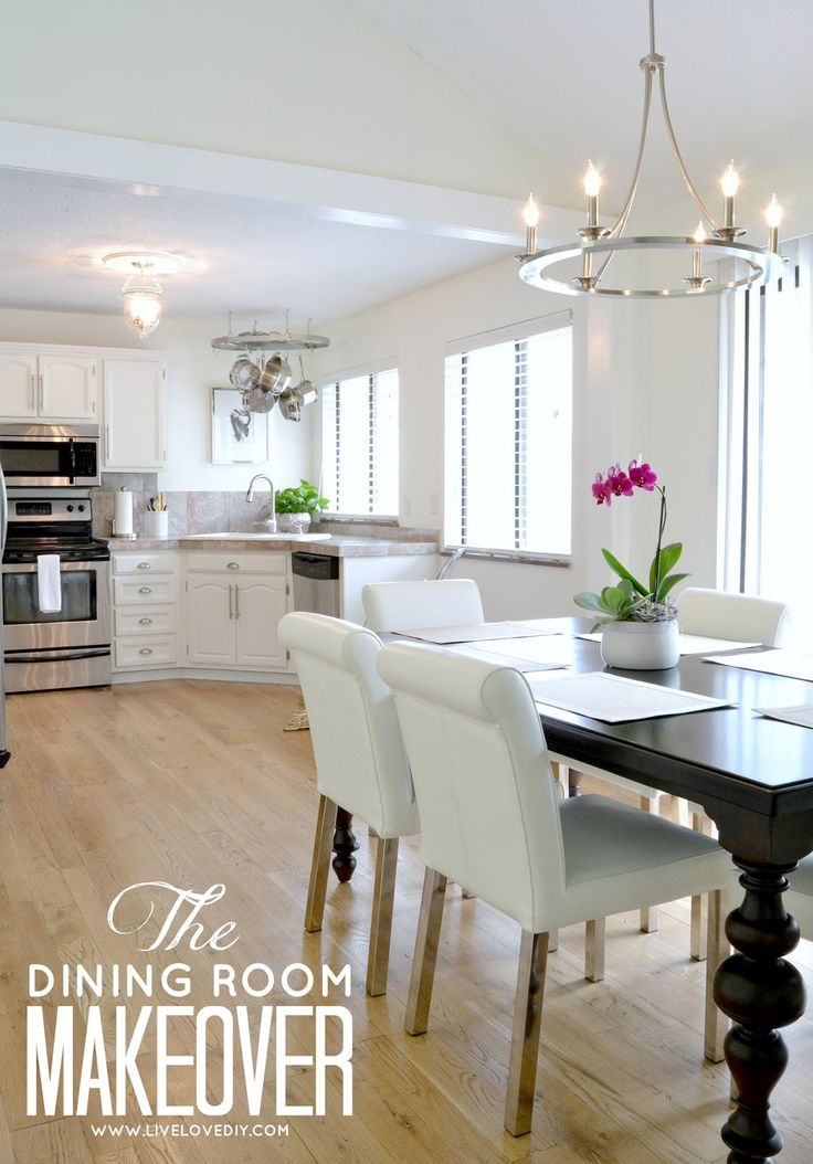 DIY budget dining room makeover ideas. Love this post....so many practical ideas on how to update an outdated house on a budget. A total must-read!