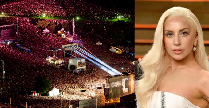 La polémica foto de Lady Gaga sobre el concierto de Metallica