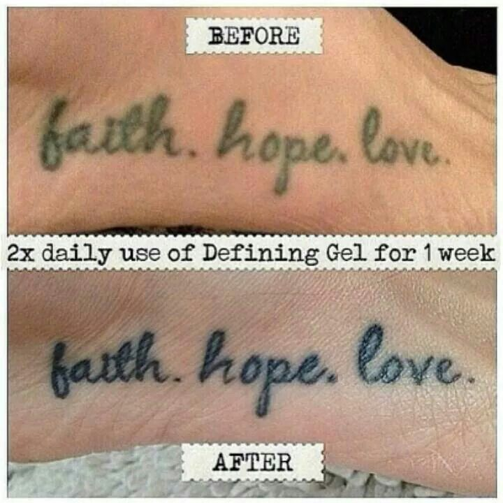 Give new life to an old tattoo!!! Use It Works Defining Gel! https://jenniferchristie.myitworks.com/