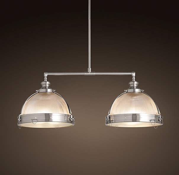 Over Island Clemson Double Pendant 14 Quot Satin Nickel