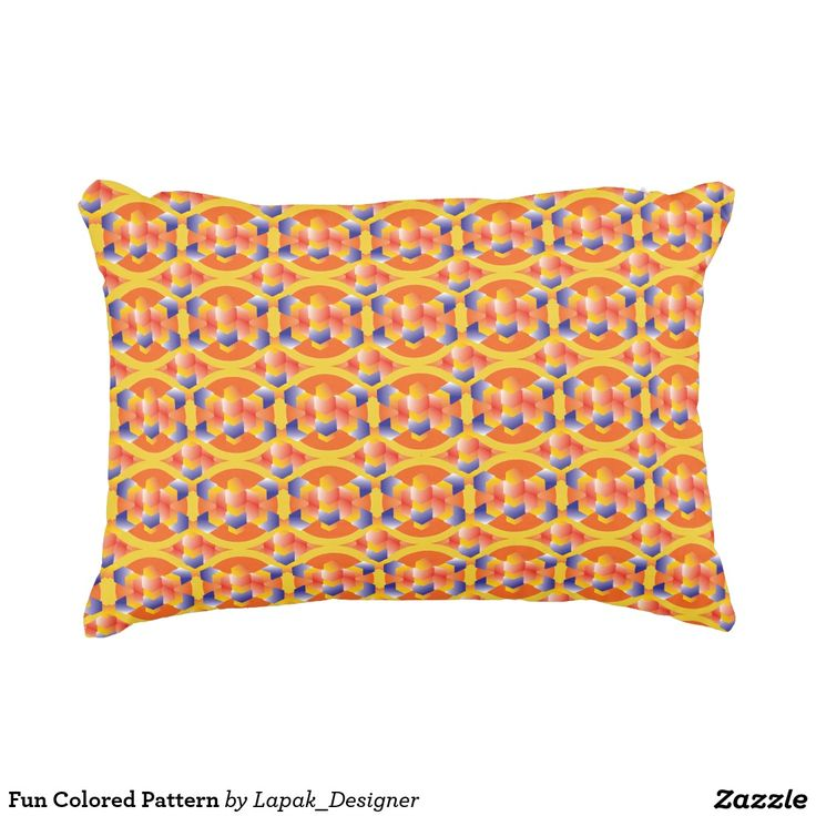 Fun Colored Pattern Accent Pillow