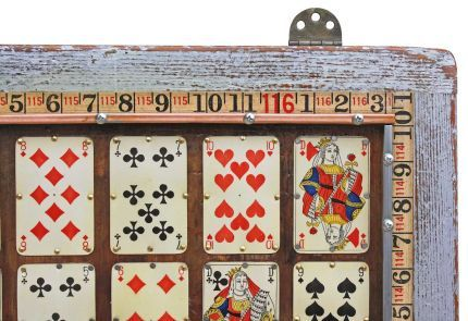 {Industrial, Vintage Playing Cards Wall Art - JUNKMARKET Style}