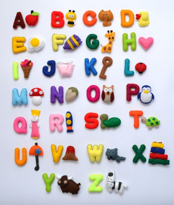 Magnet Stuffed  Felt Alphabet - Felt Letters , Alphabet - Game , Rainbow Alphabet