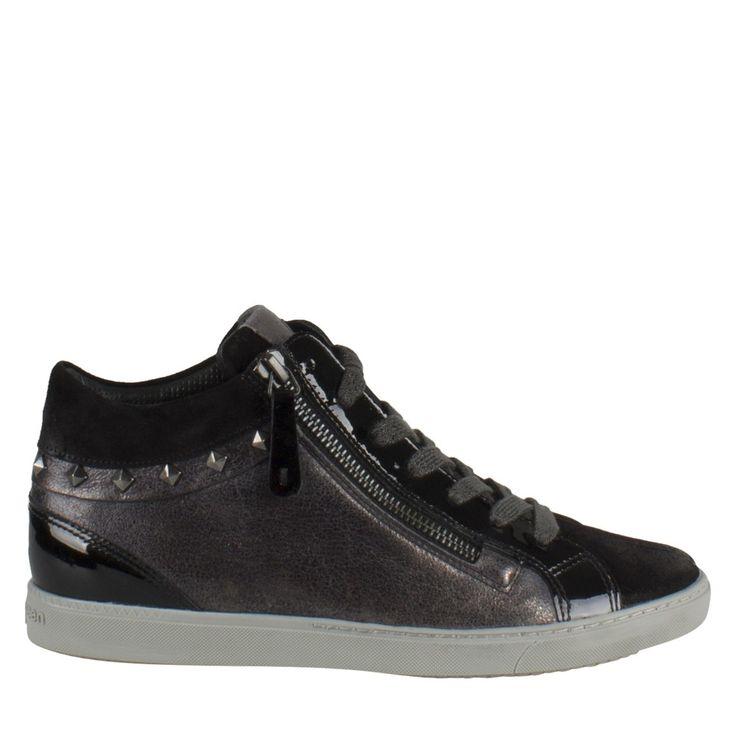 gave Paul Green 4423-028 zwart suede sneaker