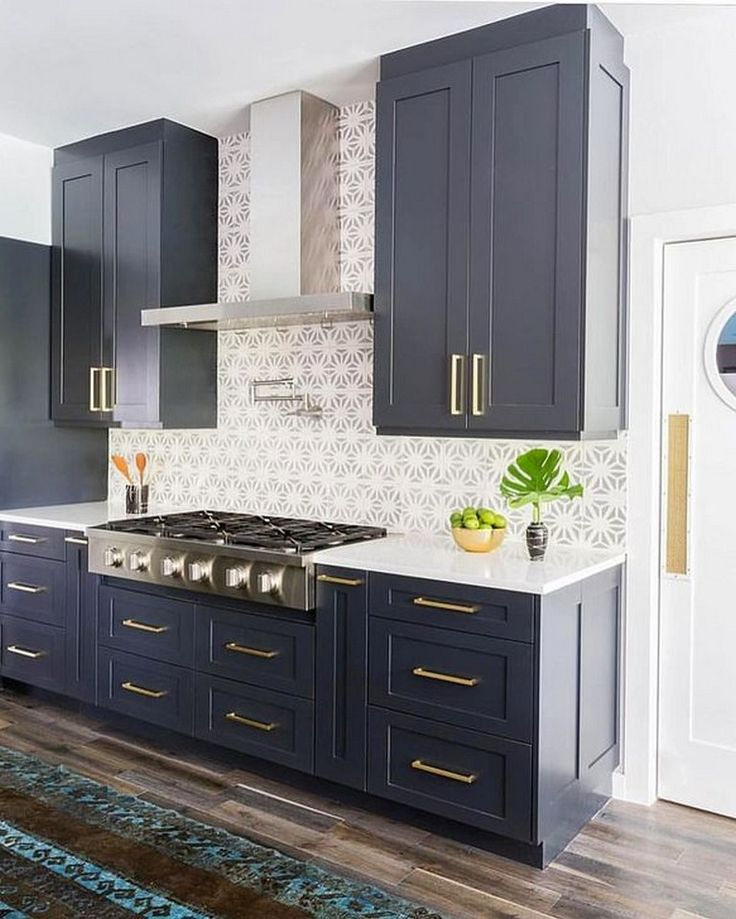 40 beautiful navy kitchen cabinets for decorating your kitchen grey kitchen cabinets navy on kitchen decor navy id=98715