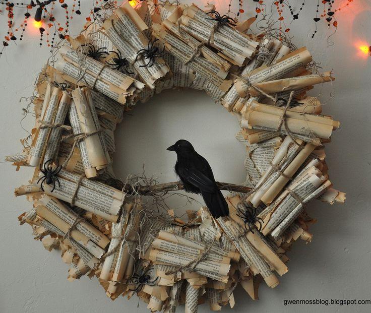 DIY : Raven Wreath - Halloween decoration