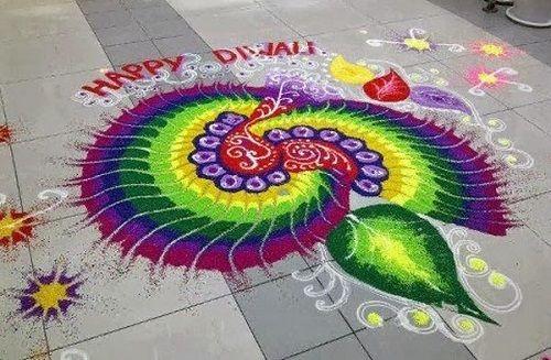 Rangoli decoration for diwali festival.
