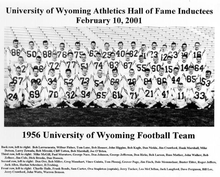 1956 University Of Wyoming Football Team - University of Wyoming Athletics Hall of Fame
