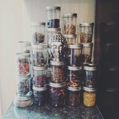Loose leaf tea jars.                                                                                                                                                                                 More