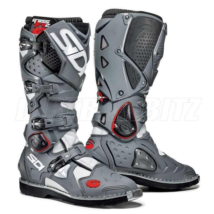 2013 Sidi Crossfire2 Motocross Boots - White Grey Black - Sidi Motocross Boots - Motocross Boots - Motocross Kit - by Sidi