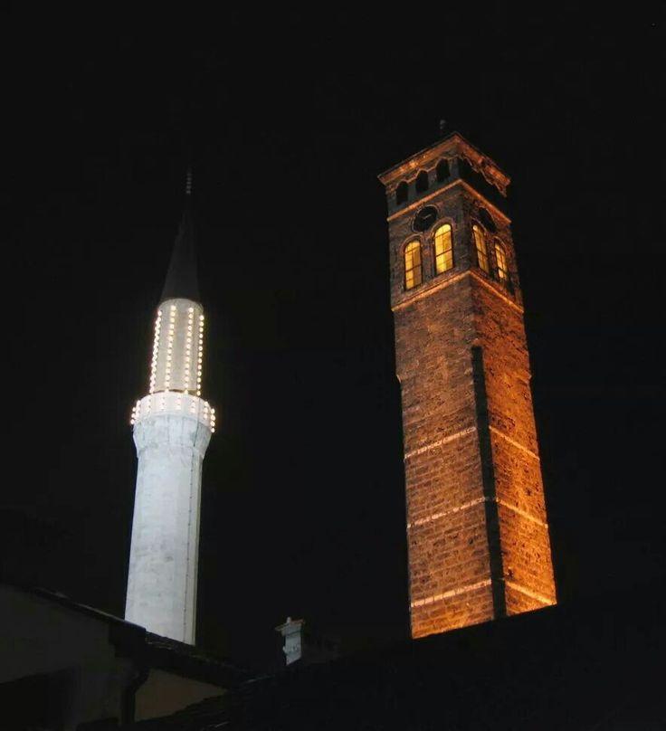 Minaret Begove dzamije i Sahat kula, SARAJEVO | Sarajevo
