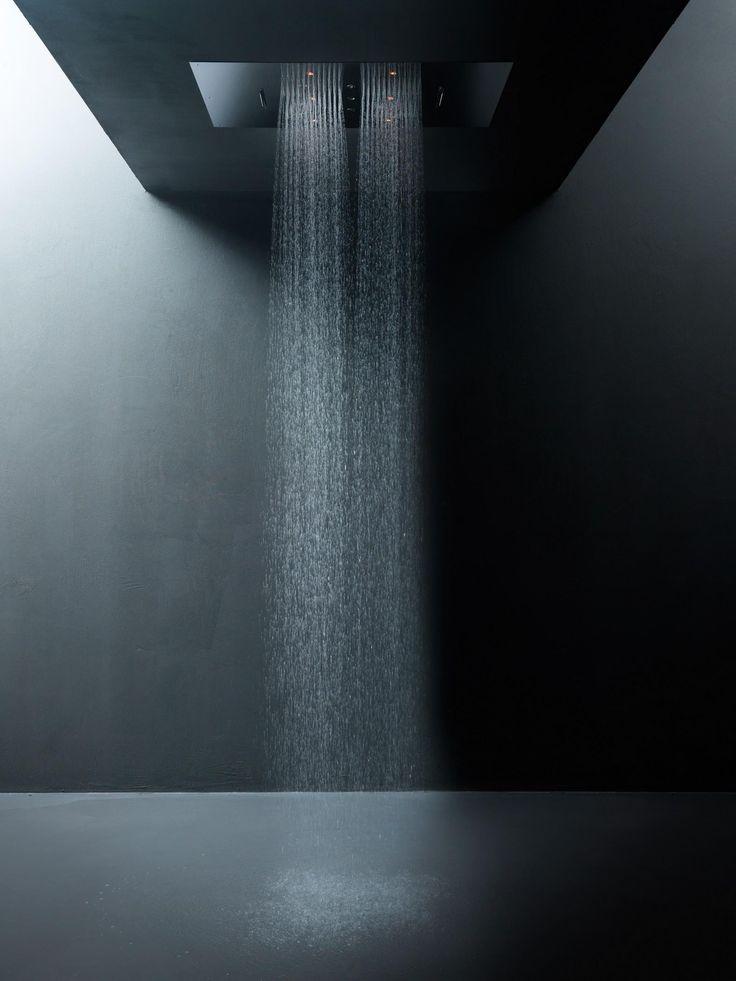 False ceiling shower head rainfall // double cascade // mist spray by Aquaelite