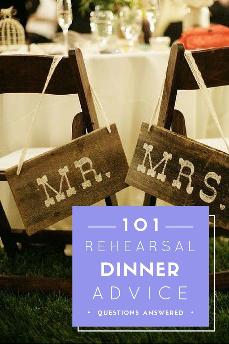 """Rehearsal Dinner Advice- What You Need To Know About """"That Whole Other Event You Have To Plan""""."""