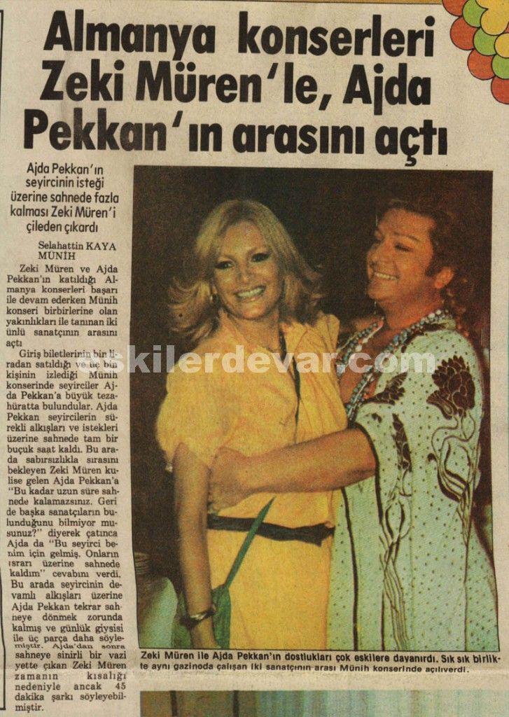 Almanya Konserleri Zeki Müren ile Ahda Pekkan'ın ARASINI AÇTI