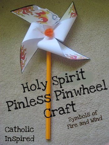 pentecost decorations   Pentecost Pin-less Pinwheel ~ Symbol of Fire and Wind   Catholic ...