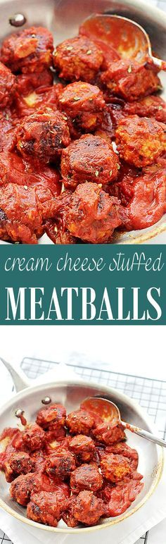Cream Cheese Stuffed Meatballs - Oh my! These are so good! Try this easy recipe for cream cheese stuffed meatballs.They are perfect served as an appetizer or as a meal!