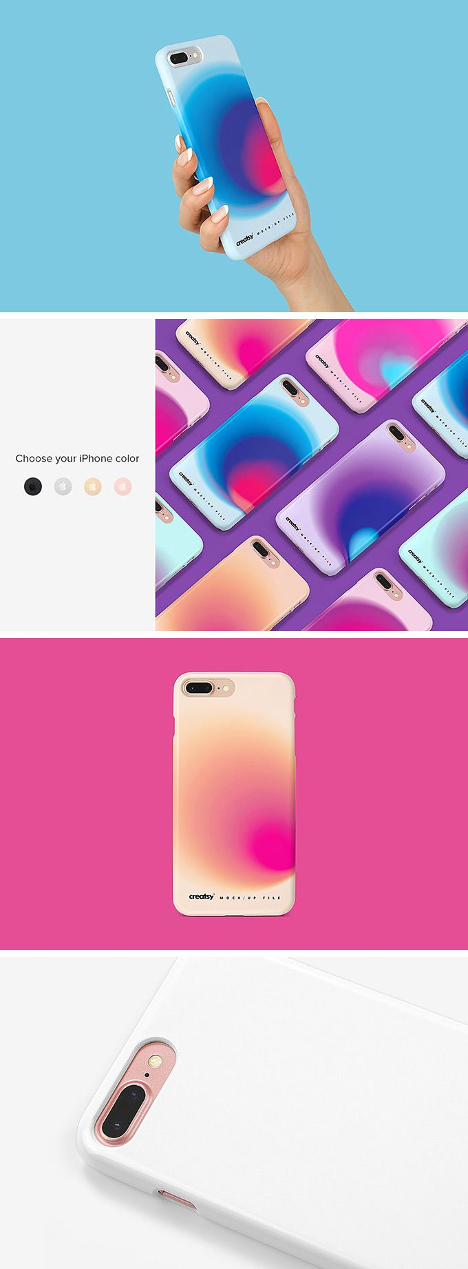 Free Iphone 8 Case Mockup Set Download Psd Template Iphone Desain Iphone 6