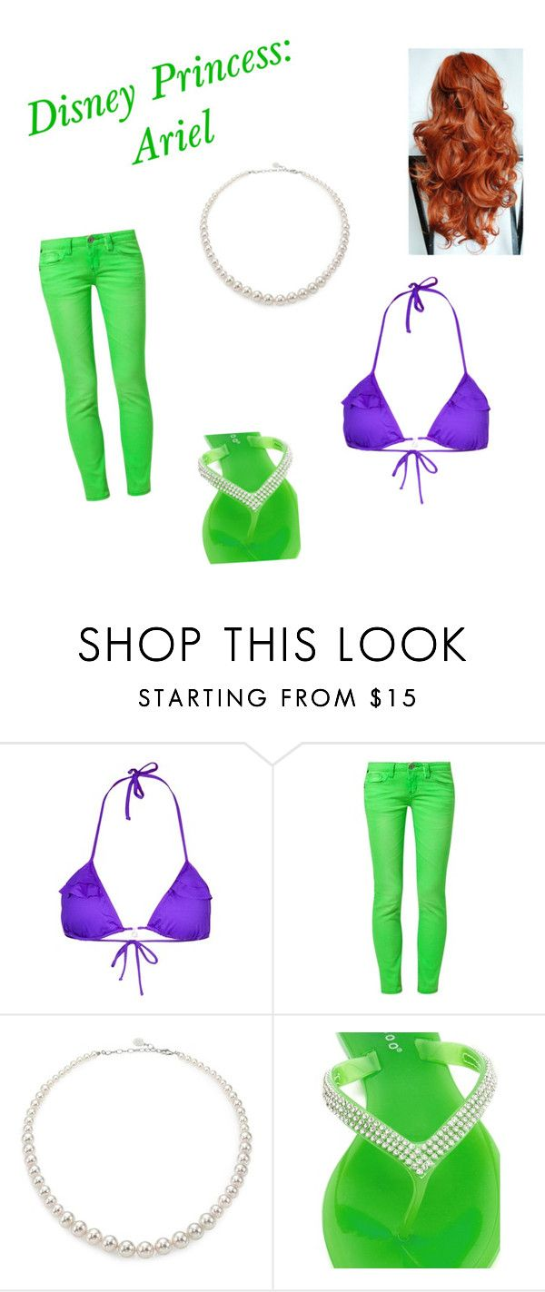 """Ariel Outfit"" by ecstatic-affinity ❤ liked on Polyvore featuring Banana Moon, One Green Elephant, Majorica, Charlotte Russe, disney, princess and mermaid"