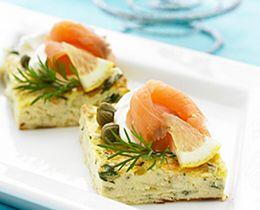 Leek & Dill Frittata with Salmon & Lemon Cream Recipe