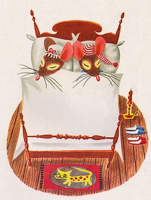 Mouse's House - written by Kathryn and Byron Jackson, illustrated by Richard Scarry (1949). I love the rug!
