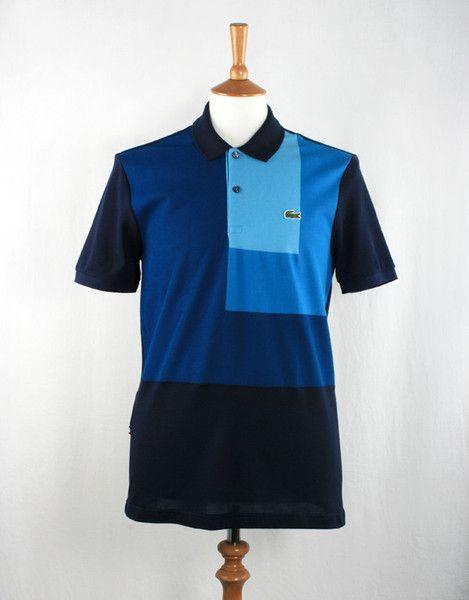 Lacoste Live! Colour Block Polo T-Shirt - Marine Navy Blue / Sky