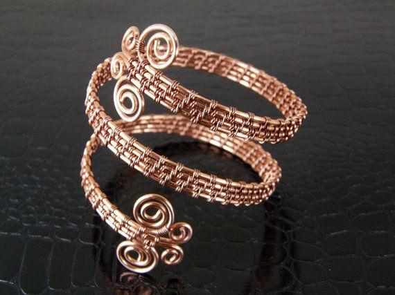Butterfly Bracelet Copper Wire Weave Butterfly by BonzerBeads, $39.00