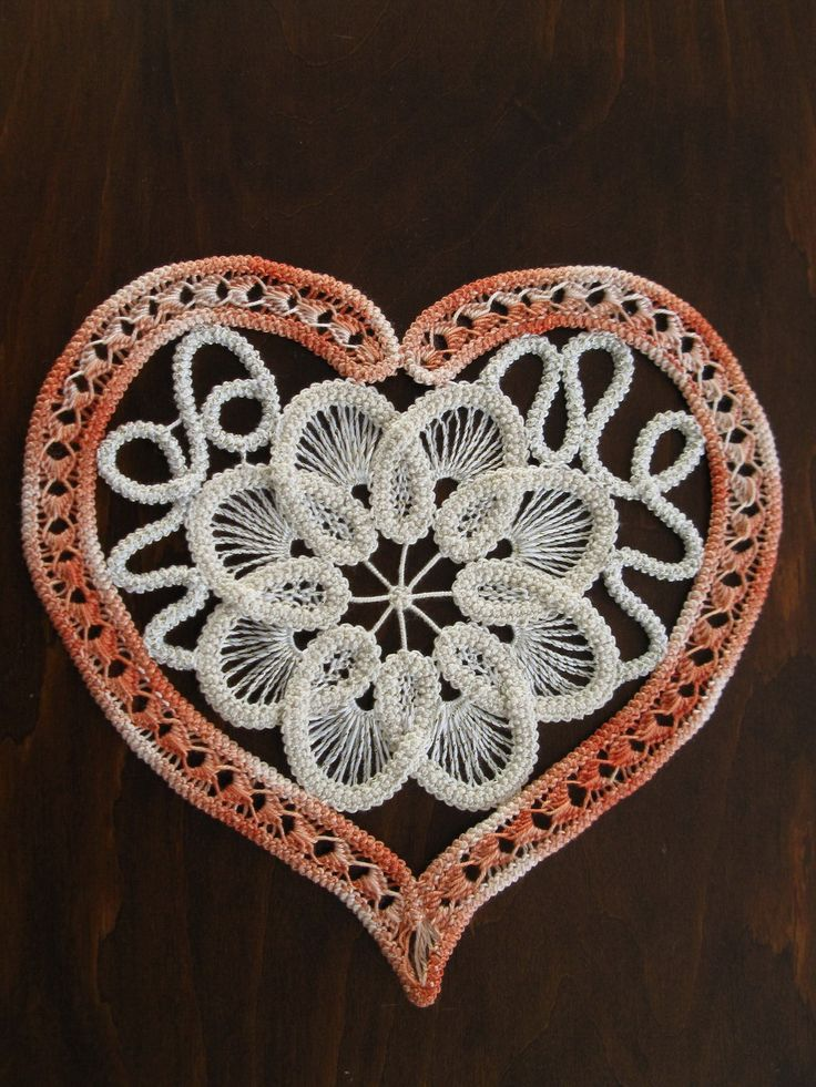 Romanian Point Lace crochet Heart