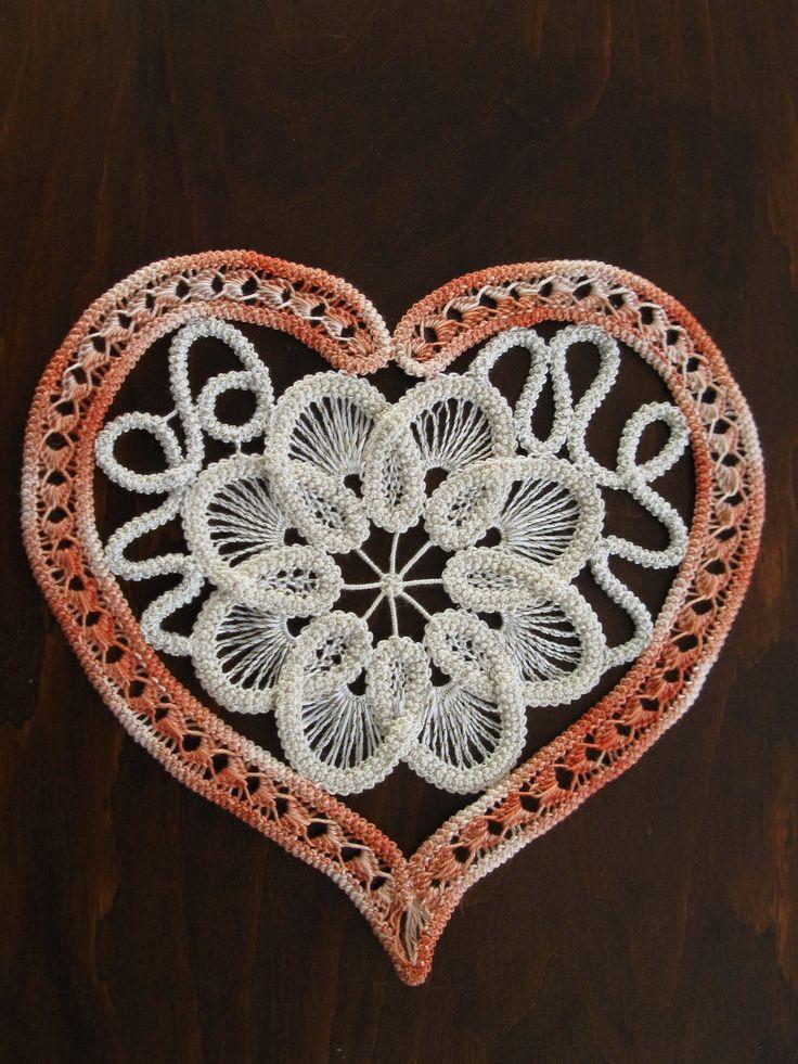Romanian Point Lace Heart