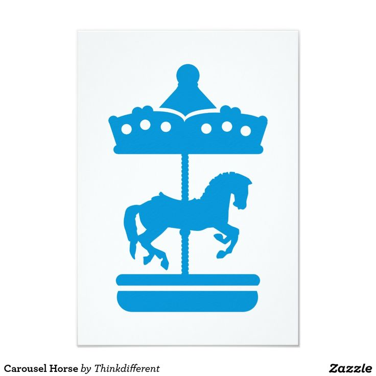 Cheval de carrousel carton d'invitation 8,89 cm x 12,70 cm