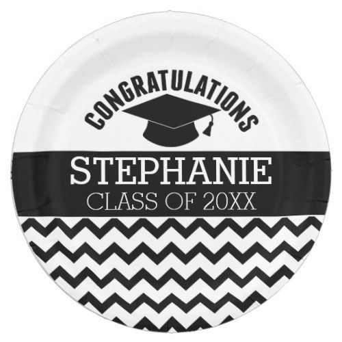 Congratulations Graduate - Personalized Graduation Paper Plate