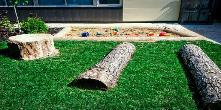 natural playground, sandbox, toddler area at La Garderie Educative de Kingston!!