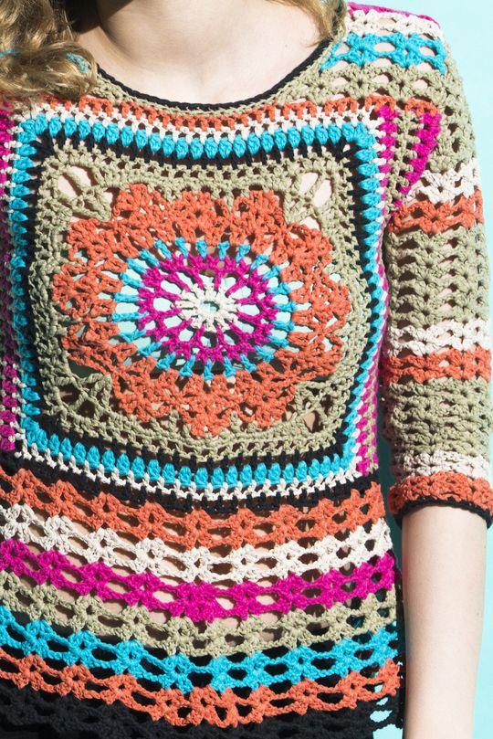 Virkad damtröja Novita Miami och Kaisla | Novita knits